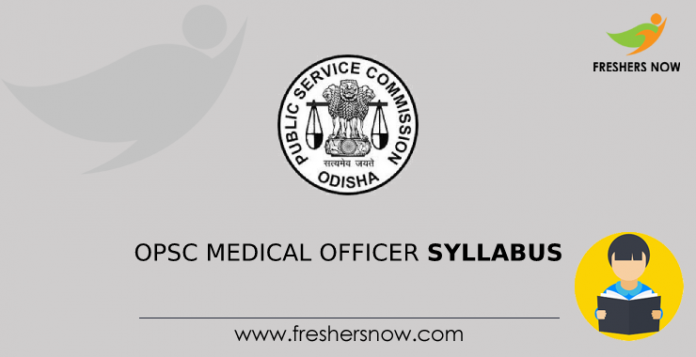 OPSC Medical Officer Syllabus